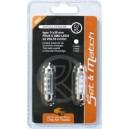 AMPOULE 6 SMD LEDS 24V CC/DC 11x39MM BLANCHE x2