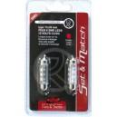 AMPOULE 6 SMD LEDS 12V CC/DC 11x39MM ROUGE x2
